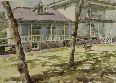 木漏れ日と青木邸