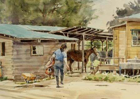 0624馬のお世話 - ウエブ