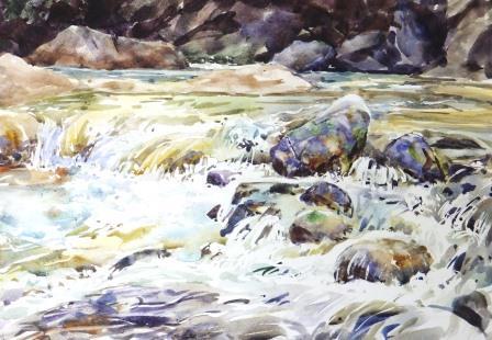 8月渓流の輝き-