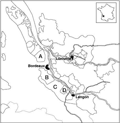 ペサックレオニャン地図
