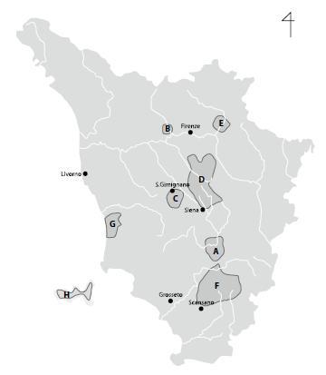 トスカーナ地図