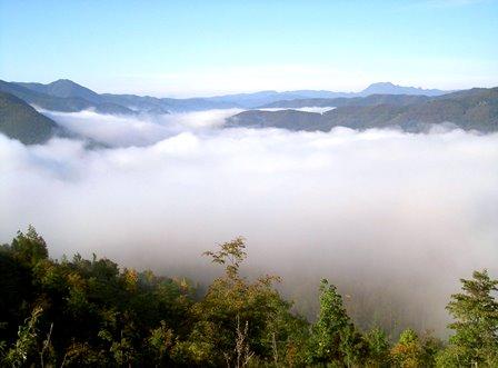 かなやま湖 雲海