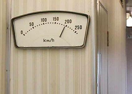 新幹線の速度計