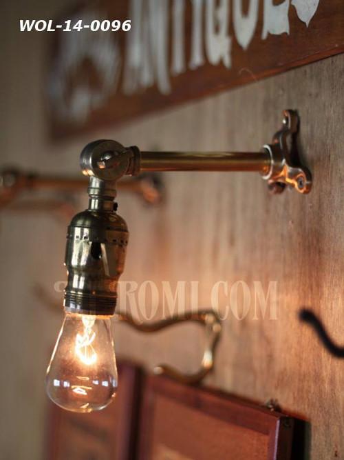 USAヴィンテージ真鍮製ファットボーイ&角度調整付きミニブラケットA/アンティーク工業系照明壁掛ランプ/インダストリアル 店舗設計 輸入 製作 販売 リノベーション