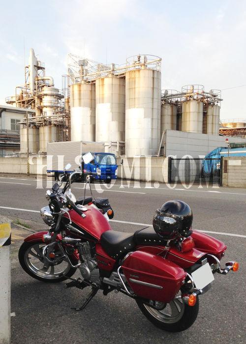 工場地帯・ドライブ・ツーリング・バイク・YAMAHA・ドラッグスター・SUZUKI・GZ150-A・旅行・配送・カスタム・アメリカン・和メリカン・クルーザー