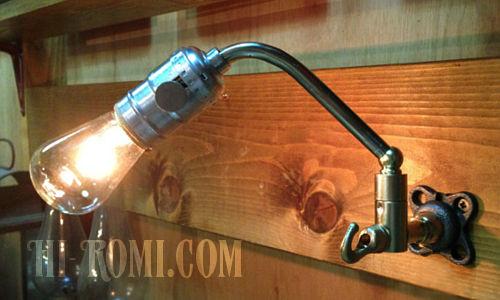 工業系フック付きスウィングアームブラケット/インダストリアル工業系ライト照明ランプ