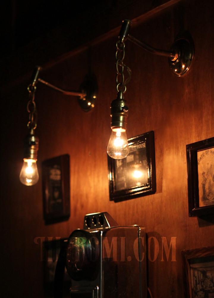 ヴィンテージインダストリアルチェーン付きブラケット/店舗設計 デザイン 照明 計画 照明コンサルタント 輸入 製作 販売