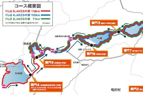 チャレンジ富士五湖2015マップ後半
