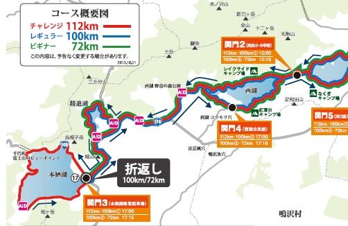 チャレンジ富士五湖2014マップ後半