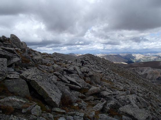 Tabeguache PeakからShavano