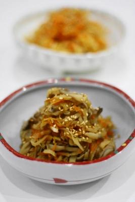 ひじきと舞茸の味噌煮