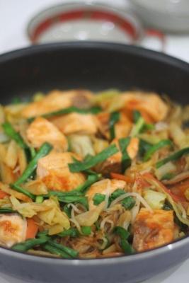 鮭のピリ辛チャンチャン焼き