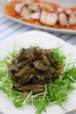 鶏レバーのオイル煮