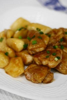 鶏肉と長芋のくわ焼き