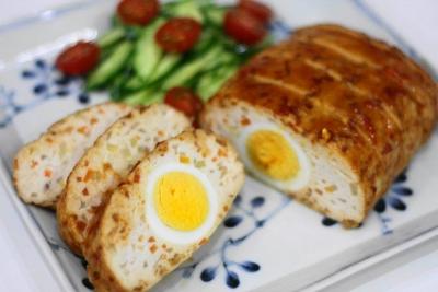 鶏胸肉と豆腐のヘルシーミートローフ1