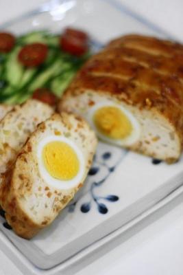 鶏胸肉と豆腐のヘルシーミートローフ