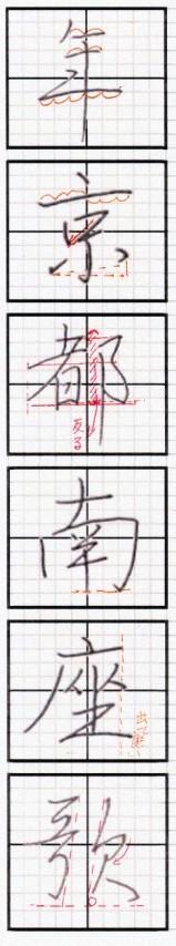 行書漢字詳解1