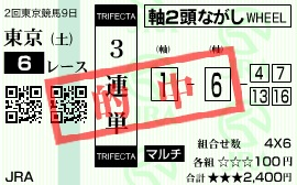 0524東京6(日刊コンピ 馬券生活 的中 万馬券 三連単 札幌競馬)