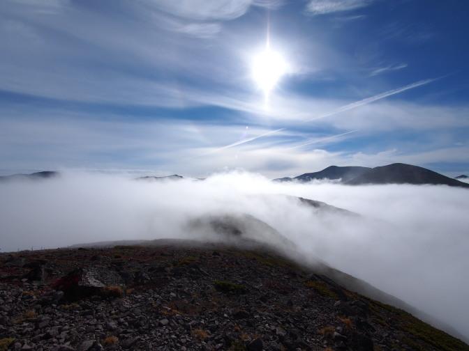 雲が晴れ…