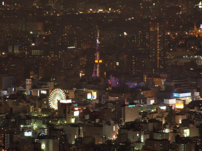 藻岩山展望台から撮るさっぽろの夜景