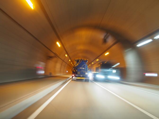全長約2kmの三豊トンネル