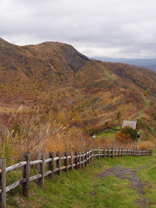 有珠山火口原展望台に続く600段の階段