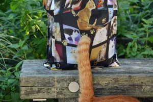 Real Cat Tail and Cat Photo Bag