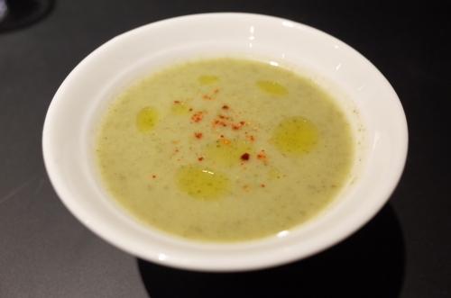 小松菜とジャガイモのスープ