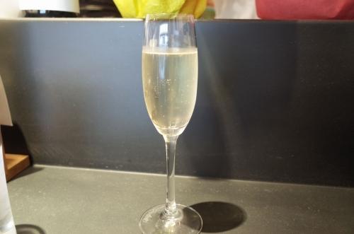 お昼のスパークリングワイン