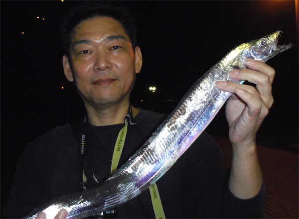一番大きかったワインドで釣った太刀魚