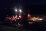 トラクターの夜間作業
