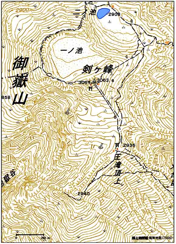 ★御嶽山地図(山頂周辺)