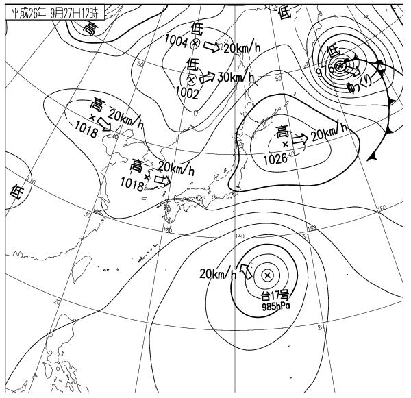 天気図 14092712