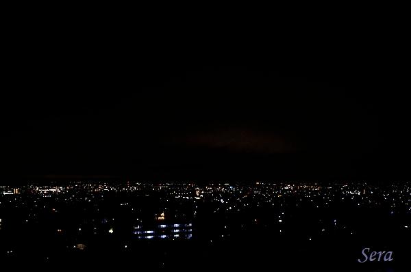 松本市の夜景(ちょっと寂しげ?)
