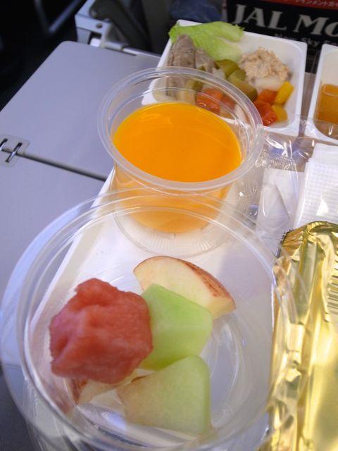 機内食 マンゴープリン