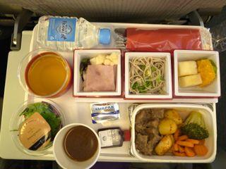 シドニー便機内食 1