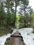 残雪の登山道