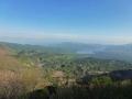 スキー場と檜原湖