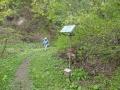 銅沼近くの登山道