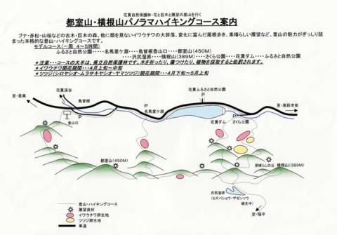 都室山のコース案内図