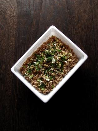 ペヤング ねぎ塩風味焼き蕎麦1