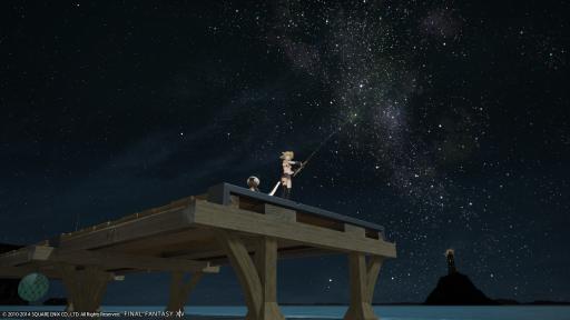 新生14 359日目 コスタ・デル・ソルで夜に釣りするにゃ♪