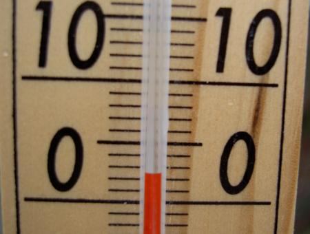 正午ごろの気温は2~3度