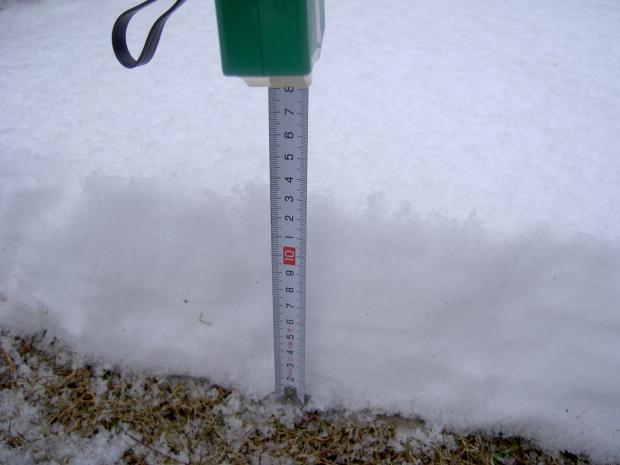 積雪は13センチ
