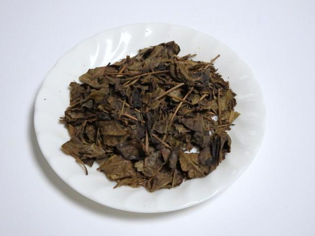 自家製のお茶の葉
