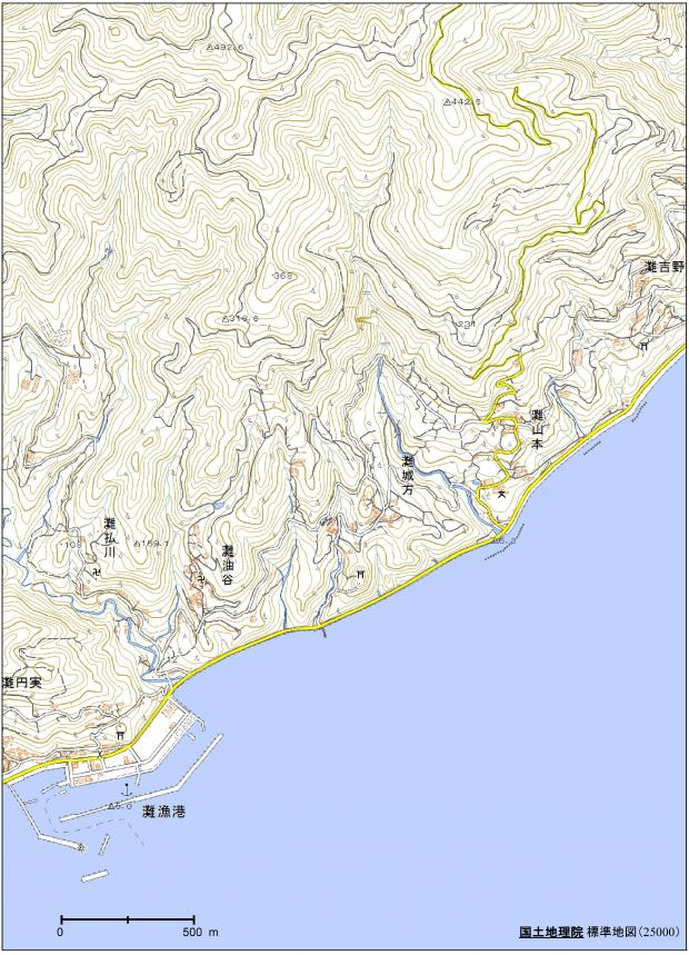国土地理院地形図 (淡路島南部海岸)
