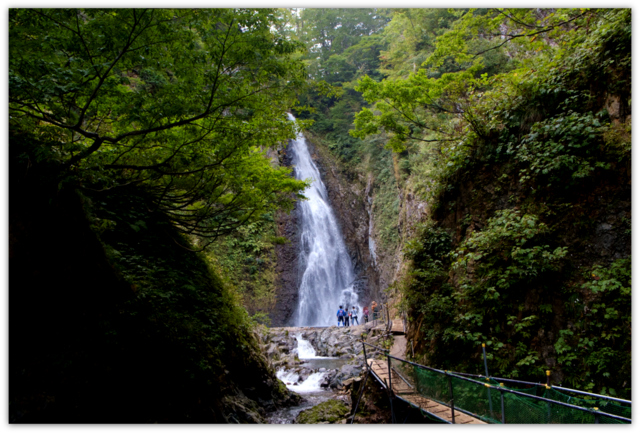 青森県 西目屋村 世界遺産 白神山地 暗門の滝 観光 写真 散策 登山 第1の滝 自然