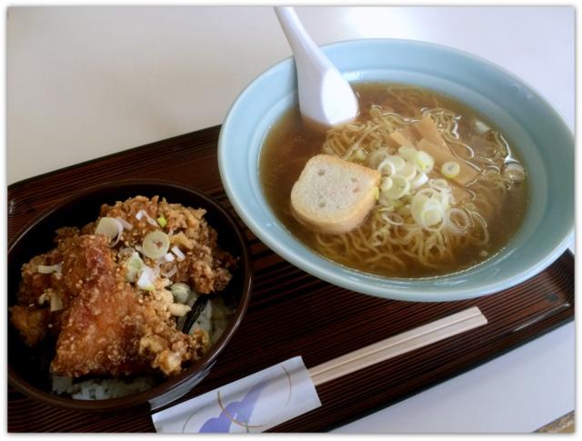 青森県 弘前市 ランチ グルメ 笑福亭 マーボートーフラーメン カラ揚げ丼とラーメンのセット