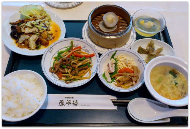 弘前 ランチ 中国料理 豪華楼 ランチセット 桜 青椒牛肉絲 回鍋肉