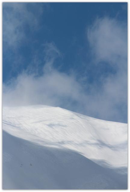 今日の岩木山 青森県 弘前市 岩木山 雪山 山 写真 雪